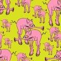 Free Strange Pink Pig. Royalty Free Stock Photography - 27191907