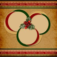 Free Vintage Christmas Background With Frames Royalty Free Stock Image - 27190476