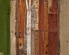 Free Aged Damaged Door Made Of Various Wooden Materials Royalty Free Stock Photo - 27191565