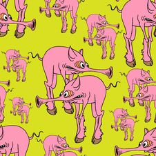 Free Strange Pink Pig. Royalty Free Stock Photography - 27191907