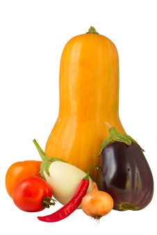 Free Vegetables Isolated On White Background Stock Photo - 27192440