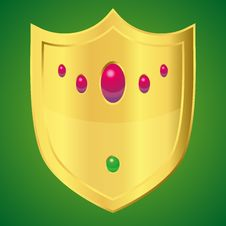 Free Golden Shield Stock Image - 27195461