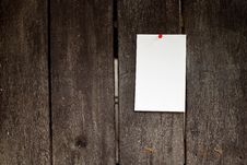 Free Paper On Old Wood Texture Royalty Free Stock Photo - 27195815