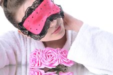 Free Girl  With Eye Mask Royalty Free Stock Photos - 27196148