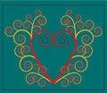 Free Vector Heart With Flourish Stock Photos - 2723483