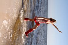 Free Playing In The Ocean Stock Photos - 2720263