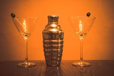 Free Martini Shaker And Glasses Stock Images - 2720614