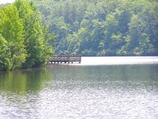 Pier On Lake Oolenoy Royalty Free Stock Photography