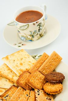 Biscuits With Hot Choco Royalty Free Stock Photo