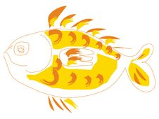Free Funny Yellow Fish Royalty Free Stock Photography - 2720887