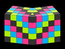 Free 3D Cubes Royalty Free Stock Image - 2721006