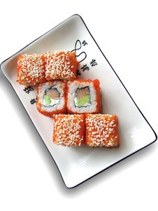 Free Rolls On A White Plate Royalty Free Stock Image - 2721596