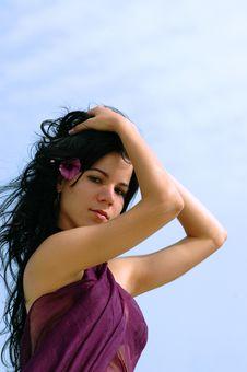 Free Beauty Portrait Of Hispanic Gi Stock Images - 2722074