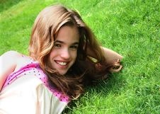Free Young Girl On Grass Stock Photo - 2722880