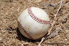 Free Baseball In Hay Royalty Free Stock Image - 2723026