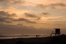 Shore At Sunset Royalty Free Stock Photos