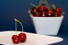 Free Red Cherries In A Bowl Royalty Free Stock Photo - 2723905
