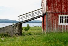 Free Old Barn With Bridge Stock Image - 2724071