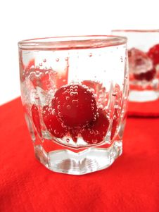 Free Cherry In Glass Of Water Stock Photography - 2724382