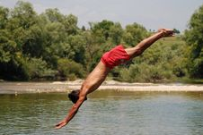 Free Perfect Jump Stock Image - 2724421