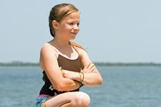 Free Girl At Waters Edge Royalty Free Stock Photo - 2724895