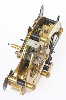 Old Gold-coloured Clockwork Royalty Free Stock Photo