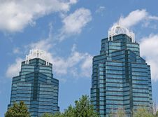 Free Two Blue Towers Royalty Free Stock Photography - 2728527