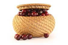 Free Cherry In A Basket Royalty Free Stock Photo - 2729295
