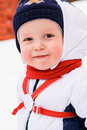 Free Winter Portrait Of Young Boy Stock Images - 27201944