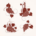 Free Set Of Grape Design Stock Photography - 27204182