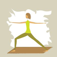 Free Yoga Warrior Pose. Stock Photography - 27200322