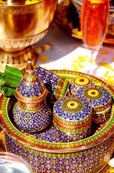 Thai Style Ceramics Ware. Stock Image
