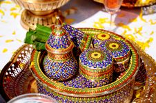 Thai Style Ceramics Ware. Royalty Free Stock Images