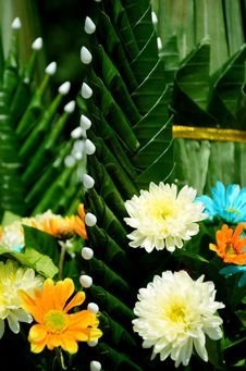 Thai Style Of Flower Arrangement. Stock Images