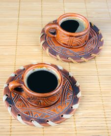 Free Two Cups Of Coffee Stock Photo - 27201990