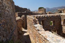 Free Crete Spinalonga Fortress Greece Royalty Free Stock Image - 27204726