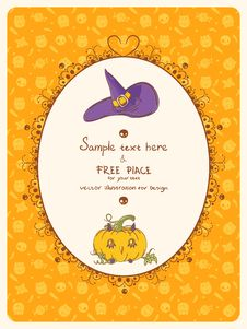 Halloween Card With Place For Text Stock Photos