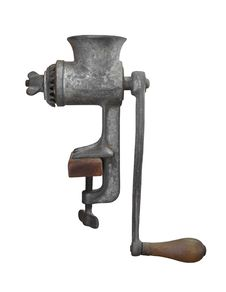Free Vintage Metal Meat Grinder Isolated. Stock Photos - 27206923