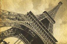 Free Retro Postcard Of Tour Eiffel Royalty Free Stock Photo - 27208875