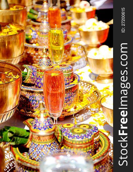 Thai style ceramics ware.