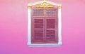 Free Old Wood Windows On Pink Stock Image - 27210251