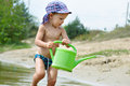 Free Little Boy Playing On The Beach Stock Images - 27214164