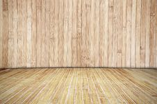 Bamboo Wood Room Royalty Free Stock Photos
