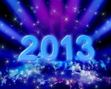 Free 2013 On Colorful Clouds Stock Photos - 27212583