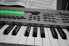 Free Keyboard And Music 01 Stock Photos - 27214433