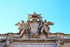 Free Detail Of The Building Top Of Fontana Di Trevi Royalty Free Stock Image - 27215166