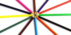 Free Color Pencils Royalty Free Stock Photo - 27215615
