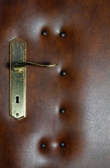 Free Leather Upholstery Door - Detail Stock Photos - 27215933