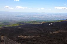 Top Of The Etna Volcano In Sicily Royalty Free Stock Photos