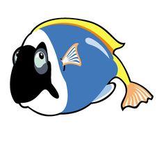 Cartoon Blue Tang Fish Royalty Free Stock Photo